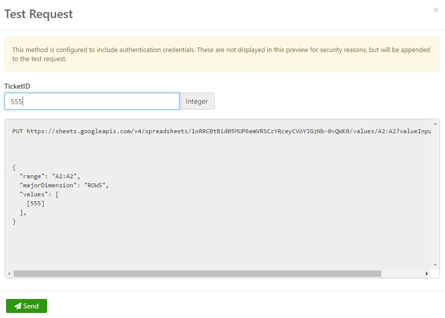 Test Web Service Request