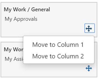 TeamDynamix Desktop Edit layout menu