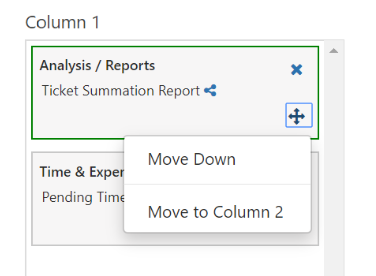 TeamDynamix Desktop moving content